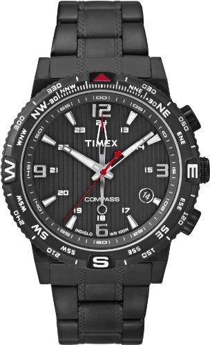 Timex-Intelligent-Quartz-T2P288-Mens-Black-Steel-Bracelet-Watch