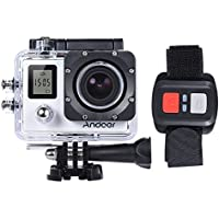 Andoer 4K 30fps/1080P 60fps Full HD 16MP Action Camera Waterproof 30m WiFi 2.0LCD Sports DV Cam Camcorder 170 Degree 4X Zoom Dual Screen Car DVR w/ Remote Control