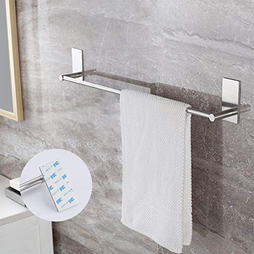 - KES Bathroom Lavatory 3M Self Adhesive Single Towel Bar 12-Inch, Brushed SUS304 Stainless Steel, A7000S30-2