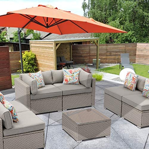 HOMPUS Outdoor 7 Pieces Patio Furniture Set