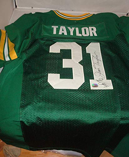 Jim Taylor signed Green Bay Packers jersey - Fanatics Authentic-HOF Running Back ()