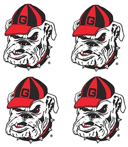 NCAA Georgia Bulldogs 4-Pack Temporary Mascot Tattoos (Magnet Mascot Ncaa)