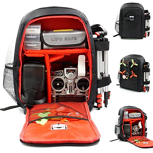 elechawk Red FPV Racing Drone Quadcopter Backpack Carry Bag Outdoor Portable Case for Multirotor...