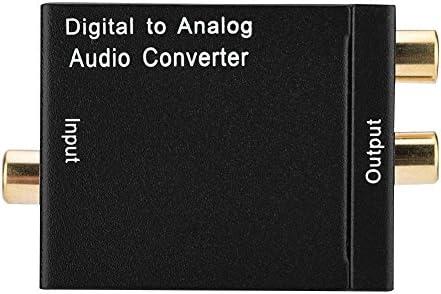 Richer-R オーディオテクニカ デジタルアナログオーディオコンバータ(ブラック)光ファイバ - アナログ デジタルオーディオデコード
