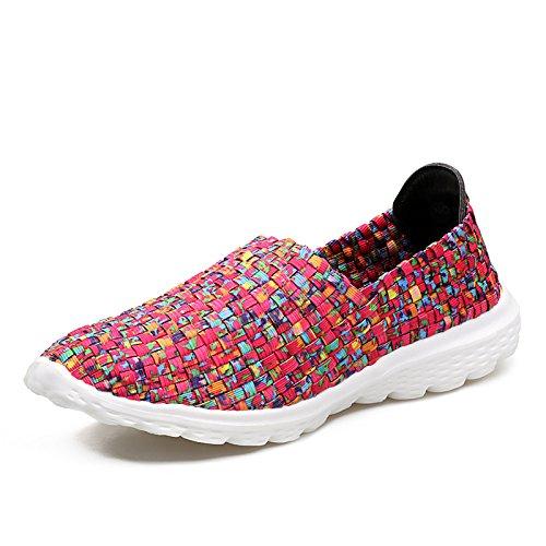 Zapatos Tejidos de Rose Antideslizantes Blando A1 Deportivos Zapatos Zapatos Zapatos de Hasag de Fondo Red Zapatos Zapatos de Verano Mujer Madre X41xqw
