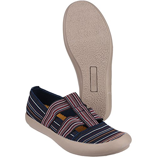 Cotswold Ladies Crompton Striped Textile Summer Shoe Navy Navy