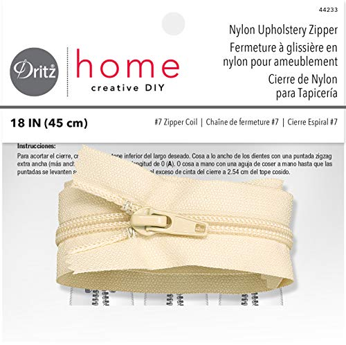 Dritz Home 44233 Nylon Upholstery Zipper, 18-Inch, Cream (Upholstery Pillow)
