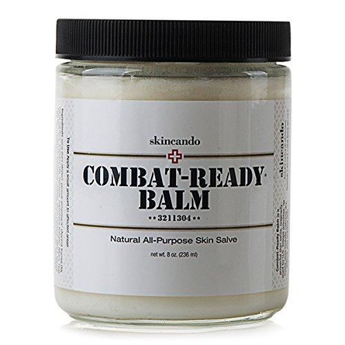 Combat Ready Skin Balm 8oz by Skincando – All Natural - Intensive Moisturizer – Skin Cream - Organic ingredients – Apricot Kernel Oil – Grapefruit Seed Extract – Black Spruce - Black tea Moisturizer