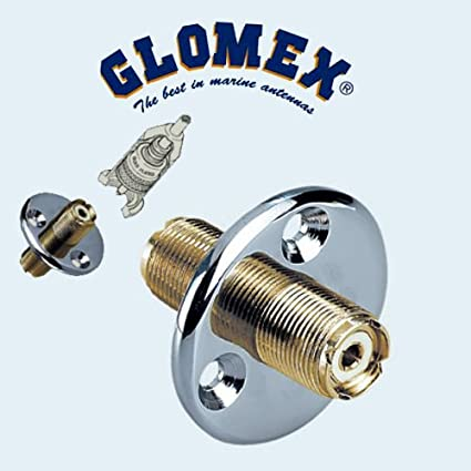 Edelstahl Deckdurchführung Glomex Ra 105 Für Elektronik