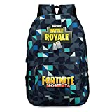 Fortnite Games Battle Royale schoolbag backpack Notebook backpack Daily backpack for Teens (Dark blue Camouflage)