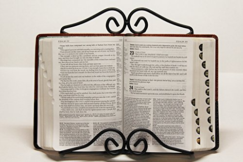 - Wrought Iron Bible - CookBook Stand - Hand Made By Amish