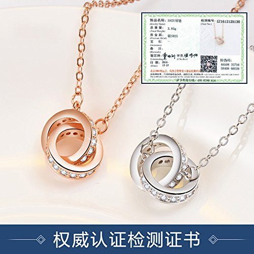 Generic 925_British_ women girl clavicle chain necklace pendant women girl student Day simple pendant necklace summer _influx_of_ people