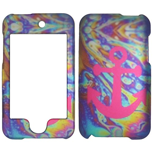 Rubberized Faceplate Phone - 2D Anchor on Motion For Apple Ipod Touch 2nd 3rd Generation (2 , 3) Case Cover Hard Phone Case Snap-on Cover Rubberized Touch Faceplates