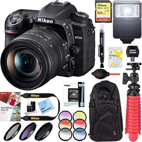 Nikon D7500 20.9MP DX-Format Digital SLR Camera with AF-S 16