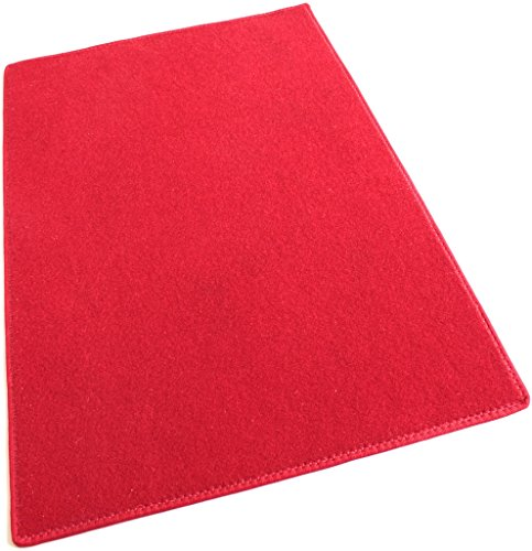 4'x8' - RED - Economy Pool & Patio - Indoor/Outdoor Carpet Rugs Runners & Mats | Light Weight Spun Olefin Reliably ()