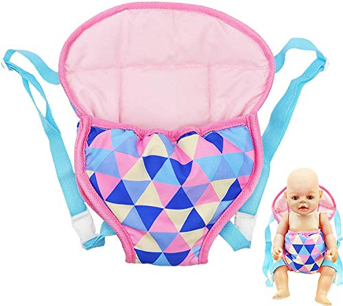 YAMASO Doll Carrier Backpack Doll Accessories Front and Back Sling with Straps for 16 Inch to 18 Inch Dolls(Doll not Included)