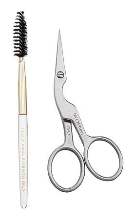 Scissors Brilliant 5 Comb Women Makeup Groom Hair Trim Tool Eyebrow Beauty Shear Scissor Eyelash Girl Lady Eye Brow Trimmer Cosmetic