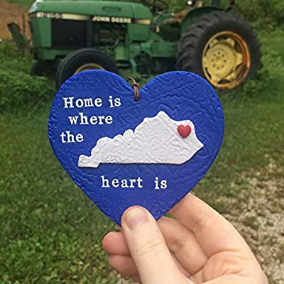 Home is Where the Heart is State Pride Ornament - Kentucky - All US States Available