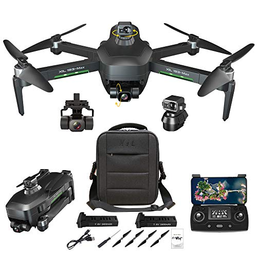 NiGHT LiONS TECH GPS Drones with Camera for Adults 4K,Obstacle Avoidance,3-Axis Gimbal,Anti-Shake,5G WIFI FPV,Long…