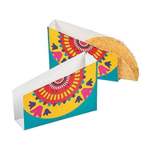 Fun Express – Fiesta Cardboard Taco Holders for Cinco de Mayo – Party Supplies – Serveware & Barware – Misc Serveware & Barware – Cinco de Mayo – 12 Pieces