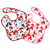 Bumkins Baby Bib, Disney Waterproof SuperBib 2 Pack, Minnie Mouse (Classic/Icon) (6-24 Months)