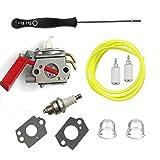 Carburetor Carb &Carb tool & spark plug For ZAMA C1U-H47 Homelite K100 K300 K400 ST2527 ST2537S UT-15164 UT-15169 UT-20758 UT-20760 UT-20769 ZAMA C1U-H47 C1U-H39A UP00608A UP00608 UP000Trimmer