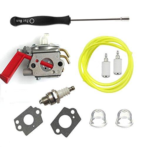 Carburetor Carb &Carb tool & spark plug For ZAMA C1U-H47 Homelite K100 K300 K400 ST2527 ST2537S UT-15164 UT-15169 UT-20758 UT-20760 UT-20769 ZAMA C1U-H47 C1U-H39A UP00608A UP00608 UP000Trimmer by HQparts