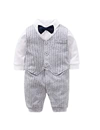 Fairy Baby Baby Boy's One Piece Long Sleeve Gentleman Formal Outfit