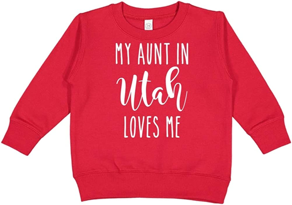 My Aunt in Utah Loves Me Toddler//Kids Sweatshirt