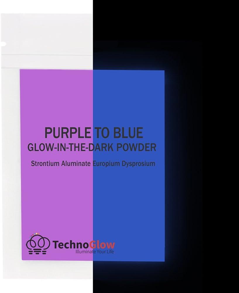 Glow in the Dark Powder, Fluorescent Purple to Blue (30 Grams)
