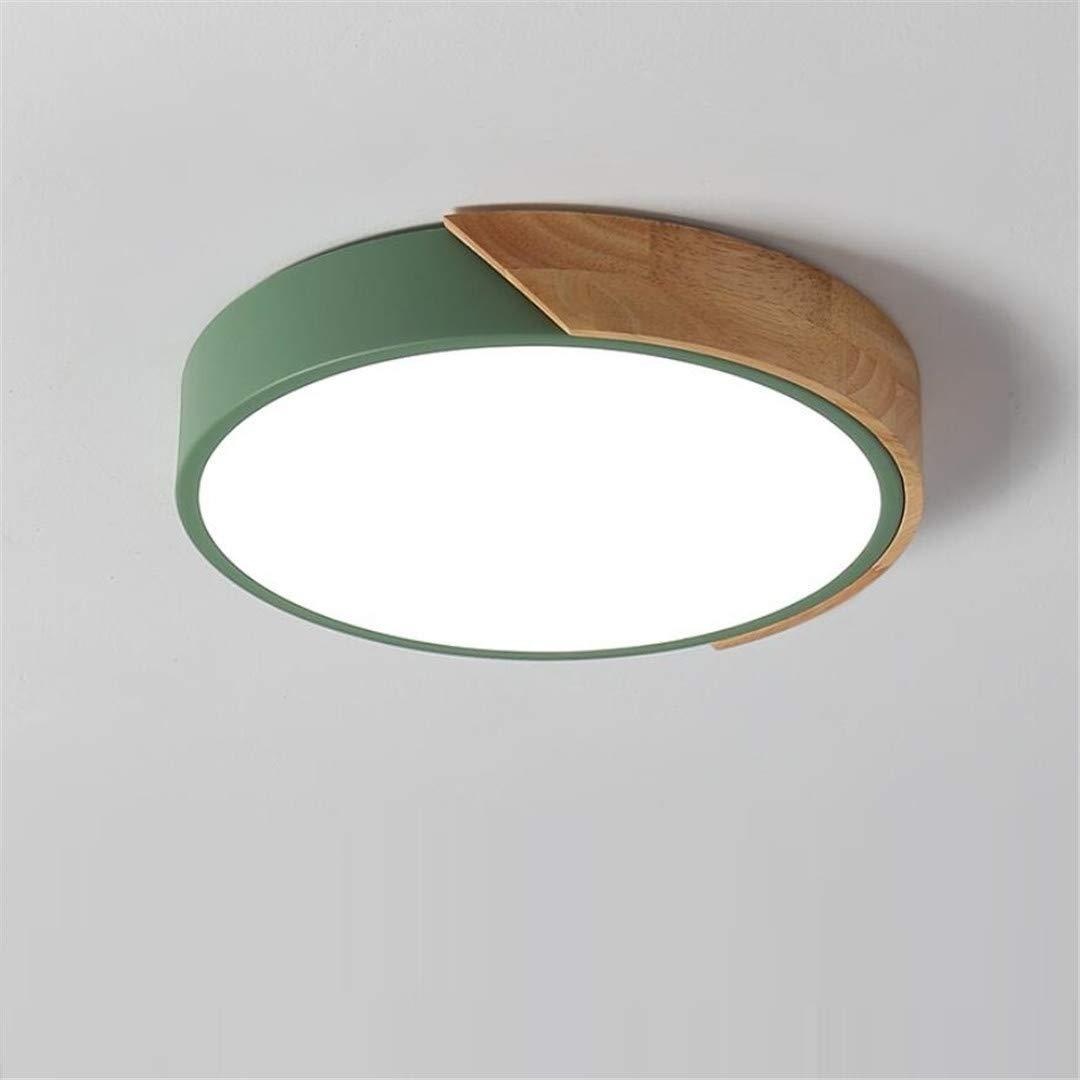 Einfache moderne hölzerne Kunst der nordischen kreativen Schlafzimmergrün-Deckenleuchte führte solide Holzlampen des runden Restaurant des Studienraumrestaurants