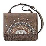 American West Women's Bella Luna Crossbody Purse Distressed Brown One Size