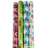 Best JAM Paper Friends Christmas - JAM Paper Christmas Design Wrapping Paper- 100 Sq Review