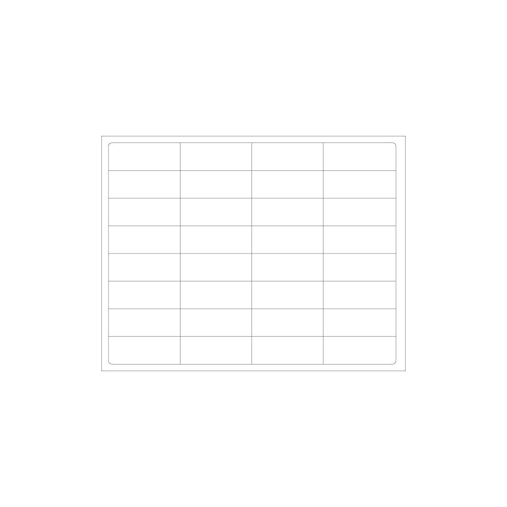 PDC Healthcare DataMate TM-ADMIT-32 Paper Laser Printer Labels without File Holes, 2.5'' Width, 1'' Core Size, White (Case of 1000)