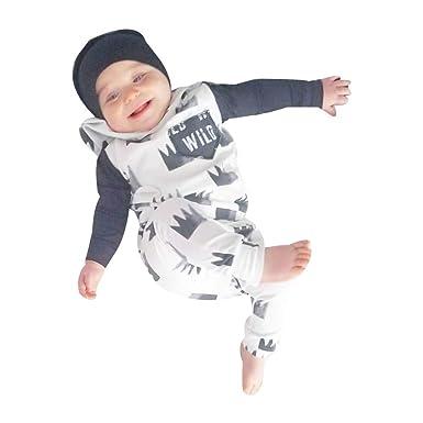 YanHoo Ropa Recién Nacidos Conjunto de Sudadera con Capucha Corona de Manga Larga bebé Blanco Recién