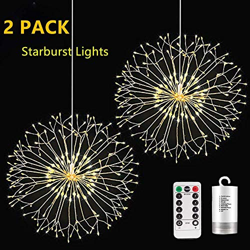 lfjsales 2 Pack Starburst Light,198 LED Bouquet LED