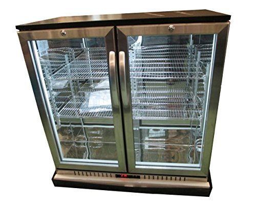 "New 36"" Wide 2-door Stainless Steel Back Bar Beverage Cooler"