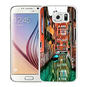 NEW Unique Custom Designed Samsung Galaxy S6 Phone Case With Venetian Flooded Streets_White Phone Case