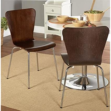 Etonnant Bentwood Stackable Chair, With Retro Hourglass Shape Curves And Sturdy  Chrome Plated Tube