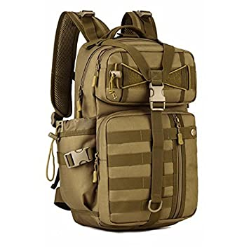 HSQM Mochila táctica al aire libre 900D impermeable militar hombro caza militar camping multiusos Molle bolsa de deporte, hombre, caqui: Amazon.es: Deportes ...