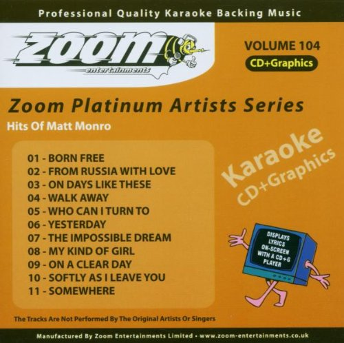 Zoom Karaoke CD+G - Platinum Artists 104: Matt Monro (104 Matt)