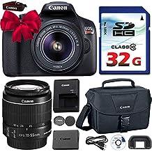 Canon EOS Rebel T6 DSLR 18 mp WiFi habilitado + EF-S 0.709-2.165in IS [Estabilizador de imagen] II Zoom Lens + Canon Professional Gadget Bag + Commander 32 GB Clase 10 Ultra High Speed Memory Card