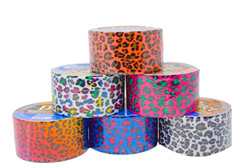 Animal Print Patterns (Set of 6 Colorful Duct Tape For Arts and Crafts (Leopard Print))