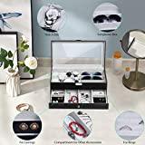 TomCare Upgraded Watch Box Watch Case Jewelry