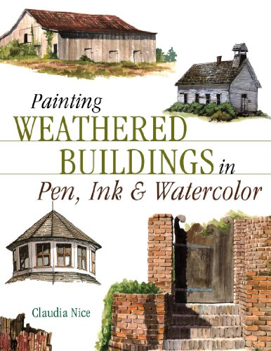 Painting Weathered Buildings in Pen, Ink & Watercolor (Artist's Photo - Watercolor Pen And Ink