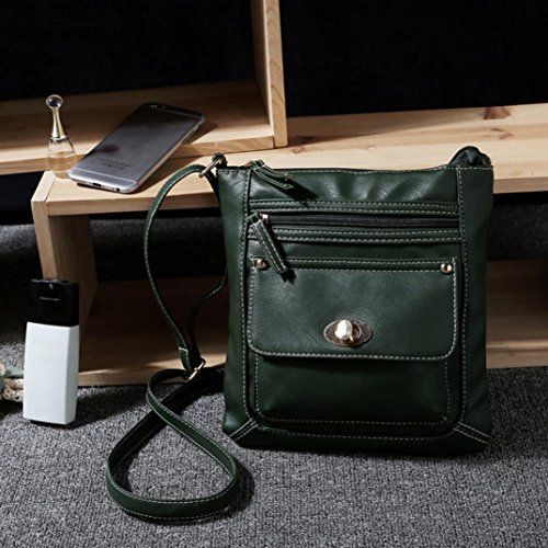 Body Satchel Messenger Shoulder PLOT Cross Green Leather Bag Bag Womens Shoulder Messenger Fxqfwx
