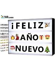 Caja de Luz de Cine con Letras Cartas, Emojis, Números