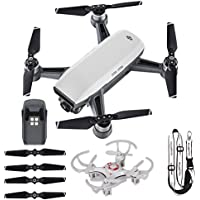 DJI Spark + Extra Accessories - Portable Quadcopter Drone Includes Lanyard and Mini Drone