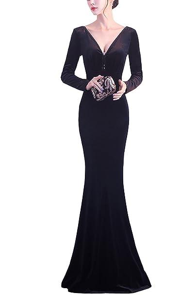 Amazon.com: KAXIDY Mujer Vestidos de dama largo de fiesta ...