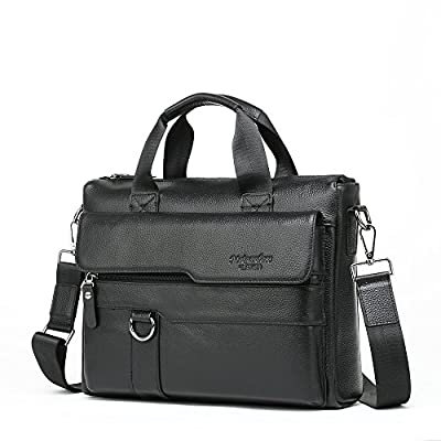 Meigardass Men's Genuine Leather Briefcase Laptop Handbag Messenger Business Bag durable service